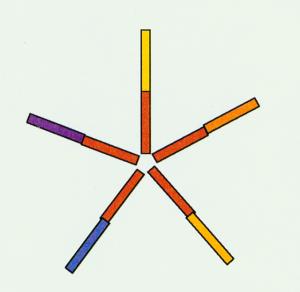 Abbildung: Die fünf Teammitglieder des roten Themas